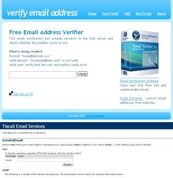 Verificare la validità degli indirizzi e-mail « Webmaster in rete