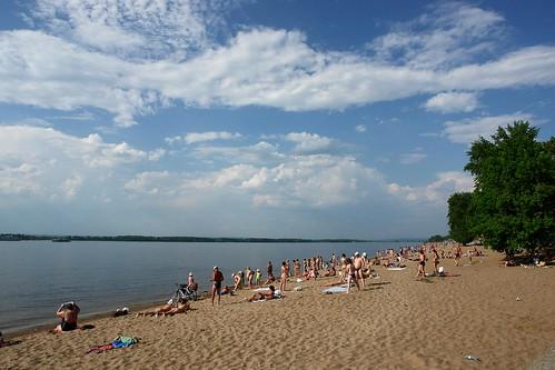 sky beach clouds swim river landscape geotagged samara geo:lat=53189951 geo:lon=50082228
