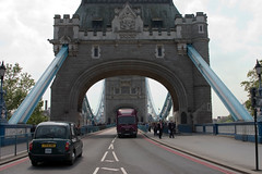 View of traffic on London Bridge