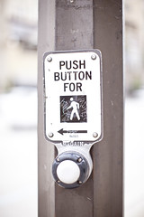 PUSH BUTTON FOR LEANING MAN ← Wandering @ Pasadena, CA USA - 28 May, 2011