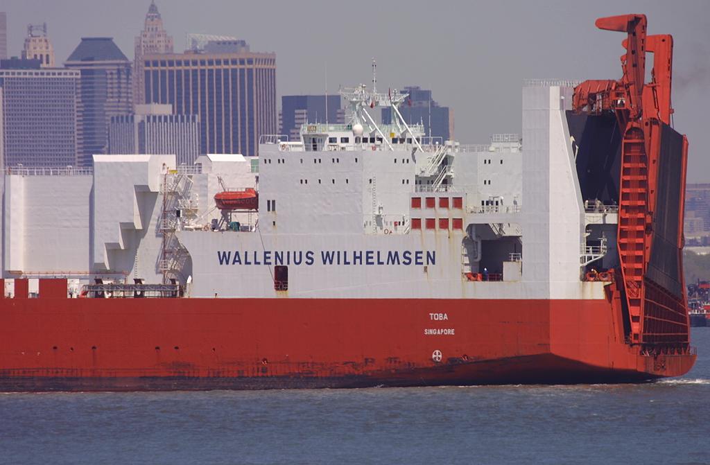 TOBA, Wallenius Wilhelmsen RoRo, in New York, USA