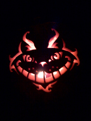 Hg scary cat pumpkin stencil