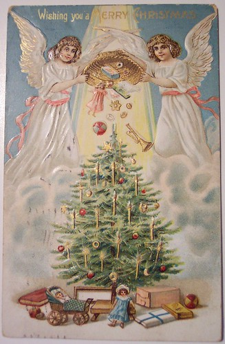 Vintage Christmas Postcard Angel