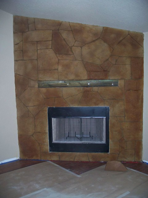 faux stone fireplace surround flickr photo sharing
