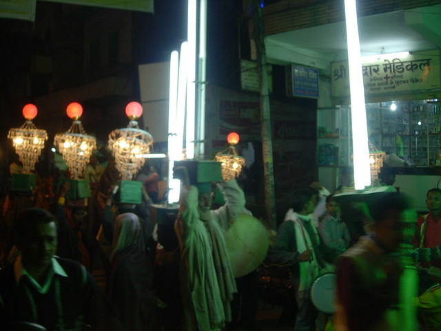 Wedding parade in Varanasi