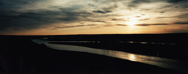Red Deer River at Sunset
