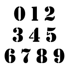 Printable Number Stencils Fonts