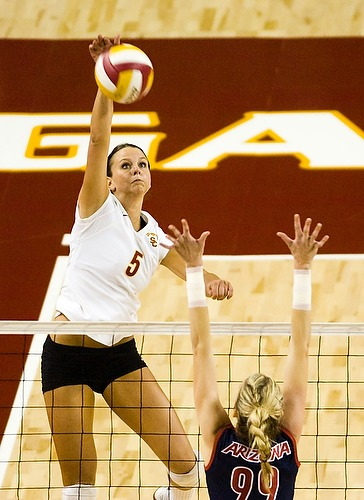 USC's Jessica Gysin in action during USC's 3-2 victory over Arizona on September 21, 2007.