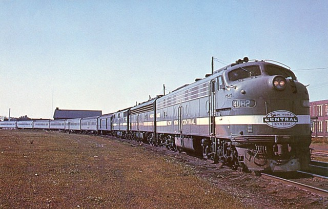 "Postcard - New York Central Railroad ""New England States"" passenger train"