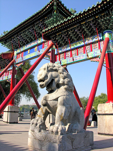 Chinesischer Löwe - Tempeleingang