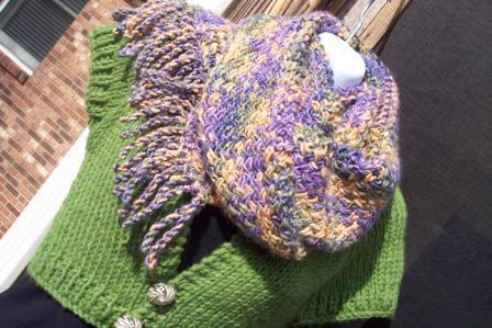Cross Stitch Knitting Pattern Scarf : Cross-Stitch Pattern Knit Scarf Flickr - Photo Sharing!