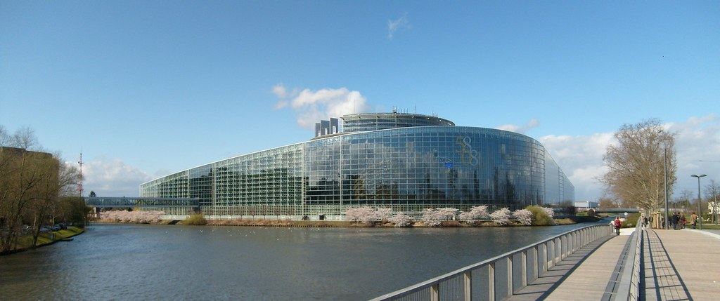 The EU parliament in Strasbourg.