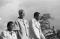 Emerson Mnangagwa of ZANU-PF, President Julius Nyerere of Tanzania and President Robert Mugabe of Zimbabwe. Zimbabwe held their last national elections on March 29, 2008. by Pan-African News Wire File Photos