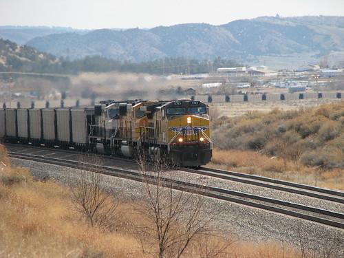 Train through Wyoming