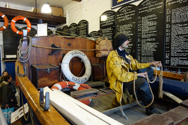 Lifebelt - Rohilla related items in Whitby Lifeboat Museum
