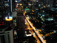 Bangkok at night from Moon Bar at Vertigo