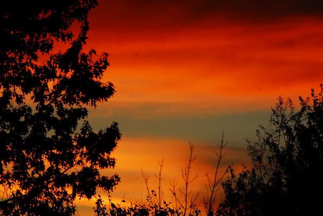 Autumn Sunset over Michigan