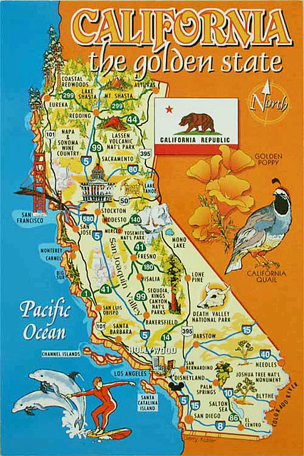 California Agriculture Map on