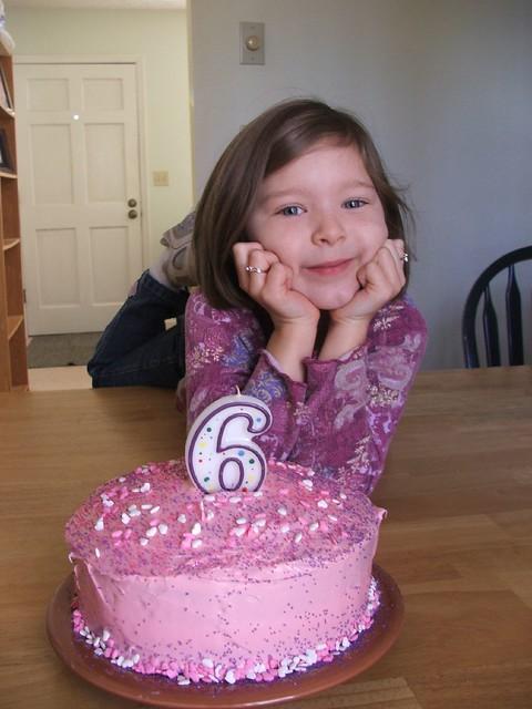 Beth & her birthday cake