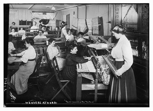 Weavers at work  (LOC)