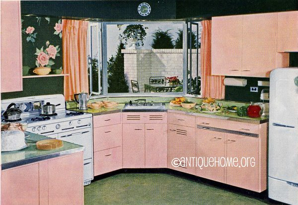 Pink Of Perfection Kitchen Design 1950s Flickr