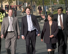 Nick Clegg with Sheffield councillors