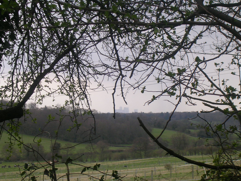 Canary Wharf in distance Upper Warlingham to Hayes