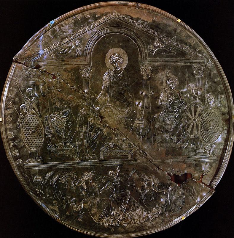 Missorium of Theodosius I, a large ceremonial silver dish