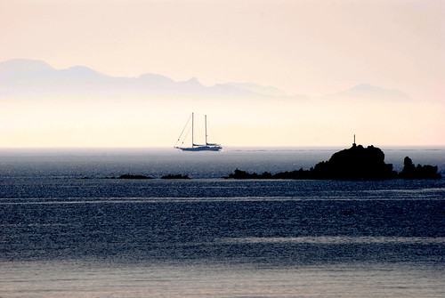 Autumn colors in the strait between Mykonos & Naxos islands