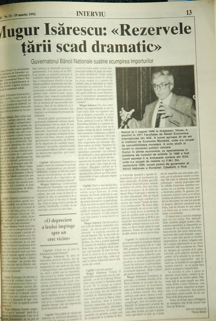 Interviu Isarescu