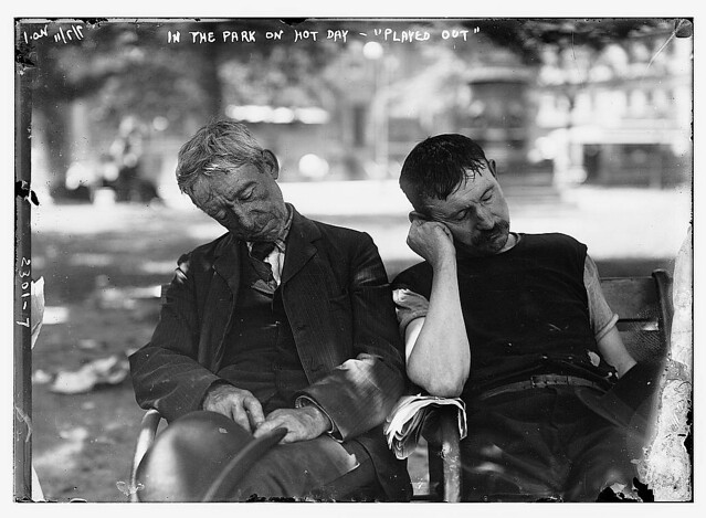 "In the park on hot day--""played out""  (LOC)"