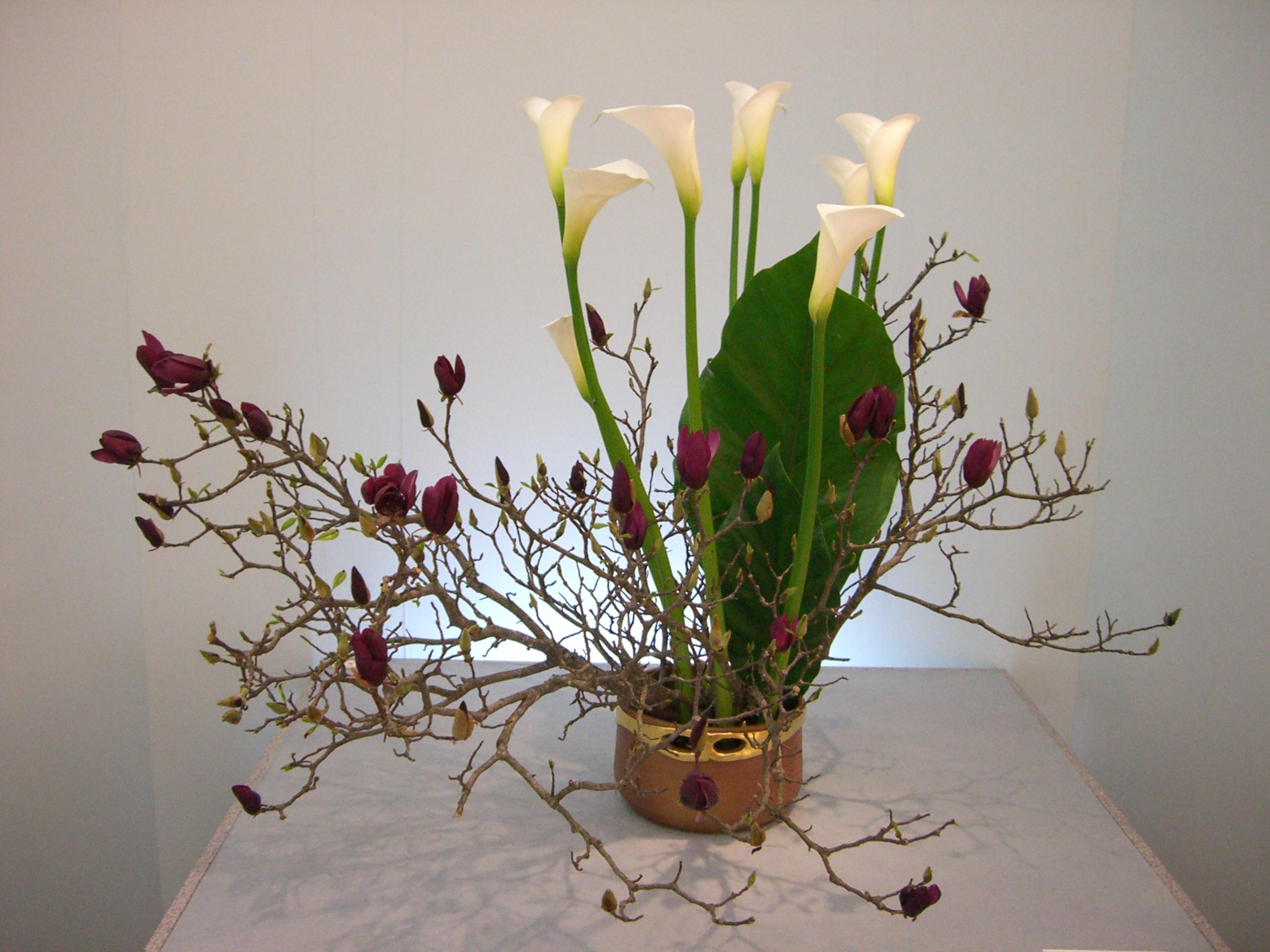 Japanese flower arrangement 3 Ikebana いけばな