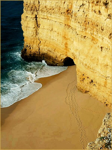 Algarve - treaces in the sand