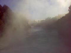 Misty morning at Huka falls
