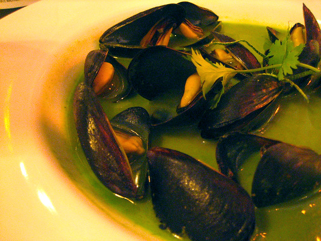 mussels in thai coconut green curry sauce | Flickr - Photo Sharing!