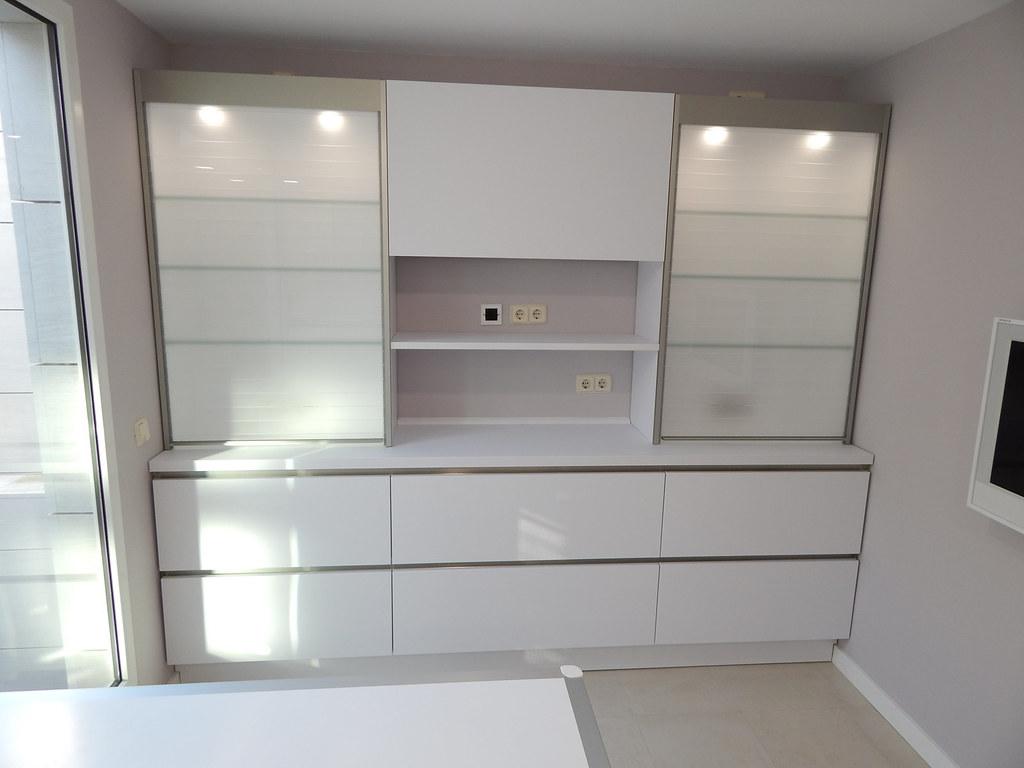 Muebles de cocina laser gris perla y for Muebles de cocina blanco y gris