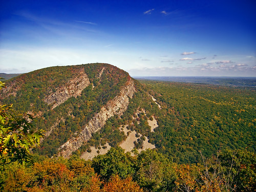 Mount Tammany as seen from the Appalachian Trail on Mount Minsi, PA