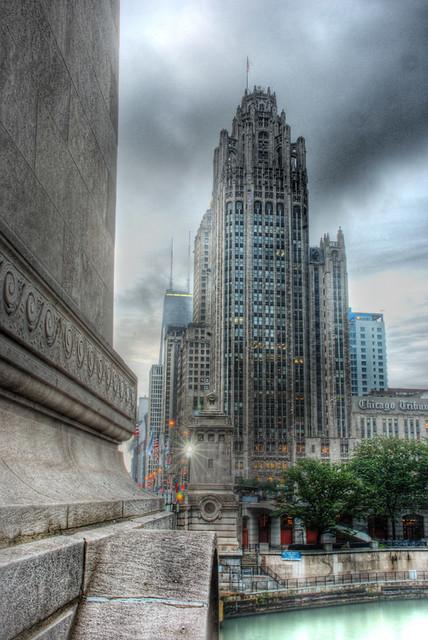 Michigan Avenue bridge and Tribune Tower