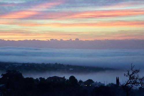 morning portugal fog sunrise europe algarve