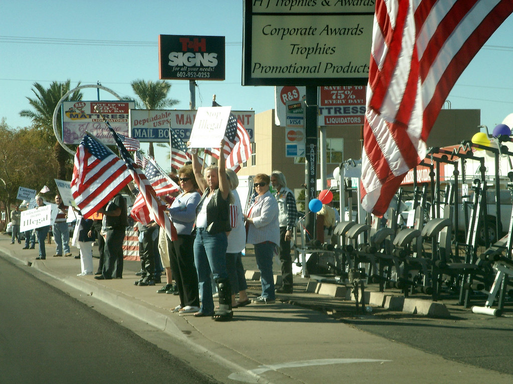 "Flag-waving ""Patriots"""