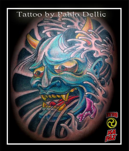 Hanya Oriental Mask Tattoo