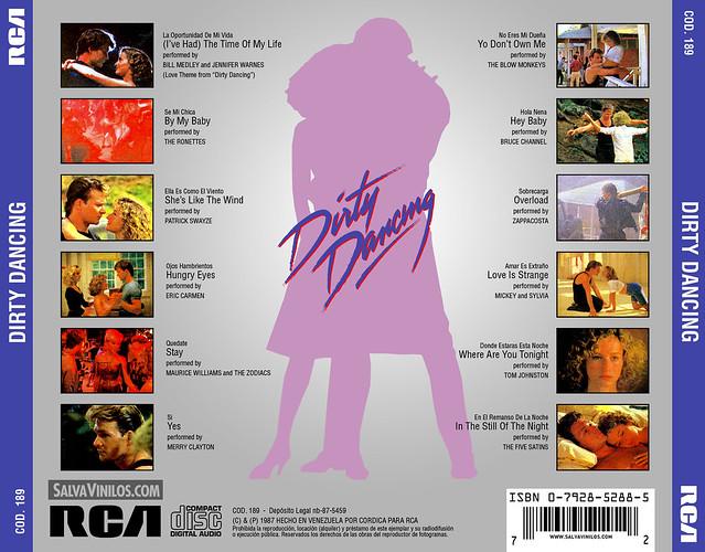 Dirty Dancing - Varios Artistas - Contraportada [1987]
