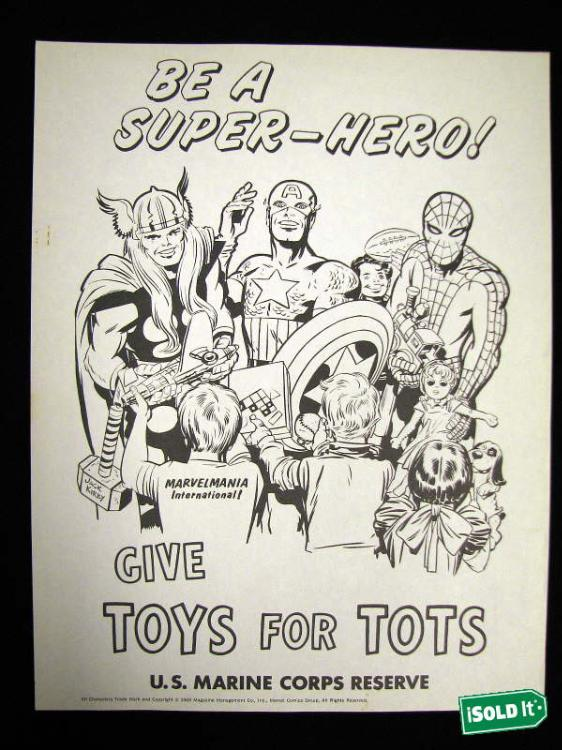 Coloring Page Toys For Tots : Captain ameri toys for tots poster by jack kirby