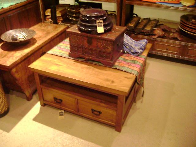 teak coffee table with drawers honolulu hawaii worldwide