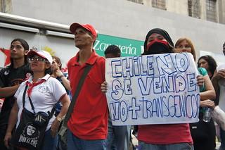 """""""Chile no se vende, no a los transgénicos"""""""