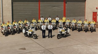 Northern Constabulary motorcycle VIP esort team 1994