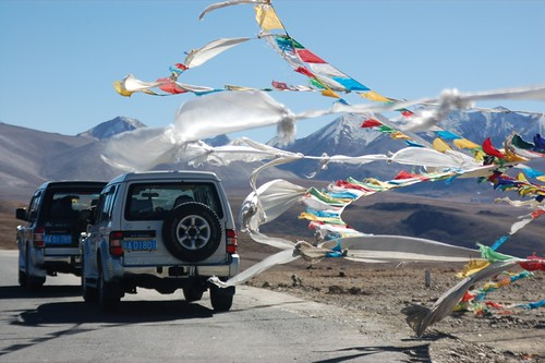 jeeps and flags