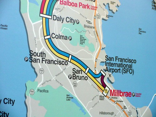 BART Train Map