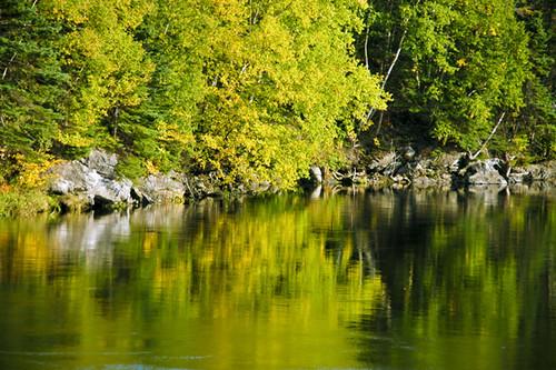 autumn canada fall water newfoundland reflections quiet cornerbrook humberriver holidaysvacanzeurlaub hjalmar1886