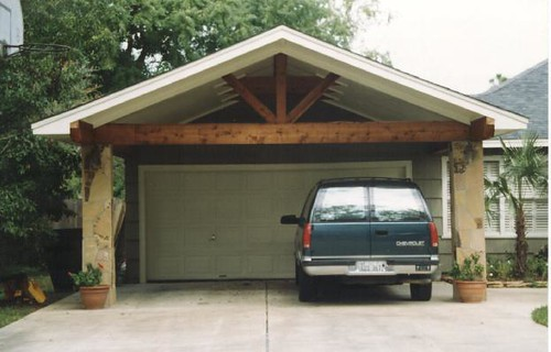 Carport with flagstone columns flickr photo sharing - Houses with carports photos ...